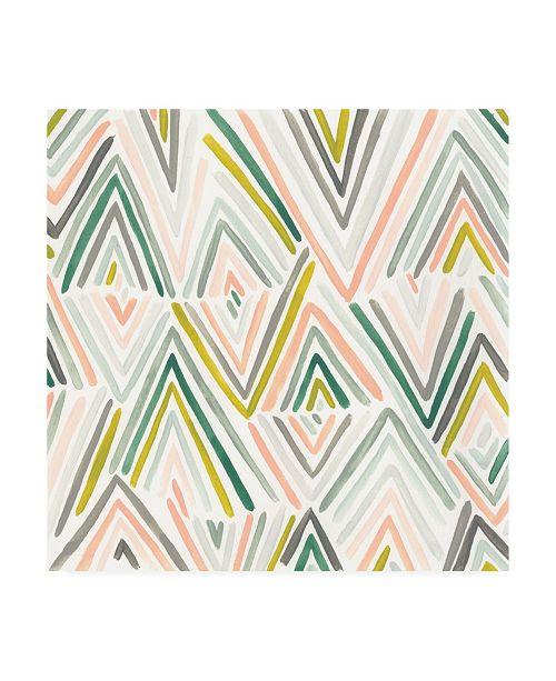 "Trademark Global June Erica Vess Tropic Tribal I Canvas Art - 15.5"" x 21"""