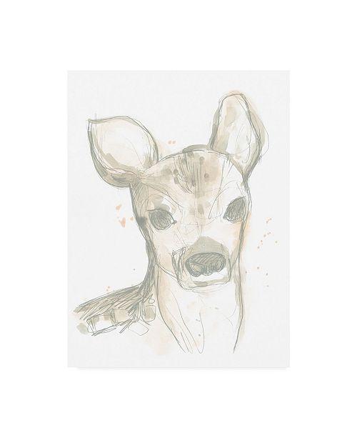 """Trademark Global June Erica Vess Deer Cameo I Canvas Art - 19.5"""" x 26"""""""