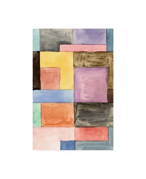 "Trademark Global Melissa Wang Primary Blocks III Canvas Art - 27"" x 33.5"""