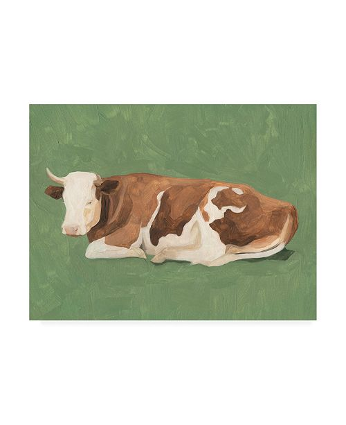 "Trademark Global Emma Scarvey How Now Brown Cow I Canvas Art - 27"" x 33.5"""