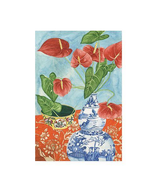 "Trademark Global Melissa Wang Elegant Arrangement IV Canvas Art - 15.5"" x 21"""