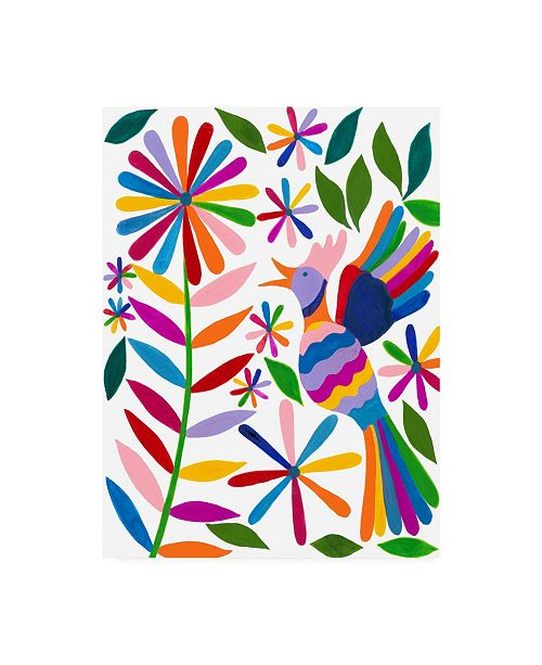 "Trademark Global Regina Moore Otomi Bird II Canvas Art - 15.5"" x 21"""