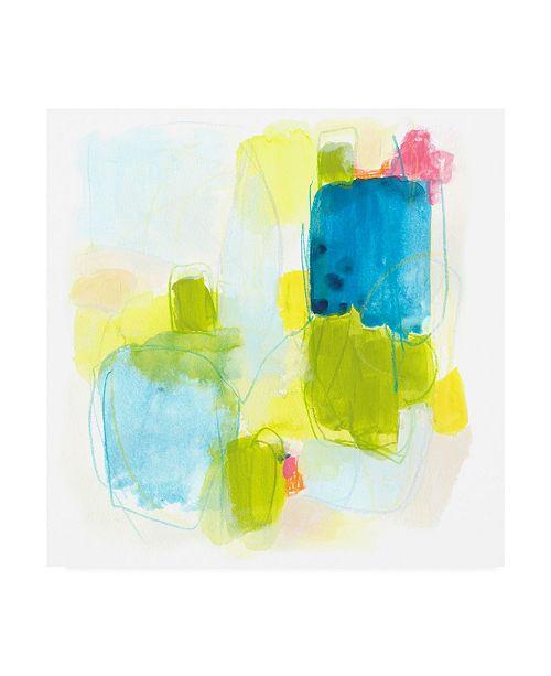 "Trademark Global June Erica Vess Narrative Structure II Canvas Art - 19.5"" x 26"""