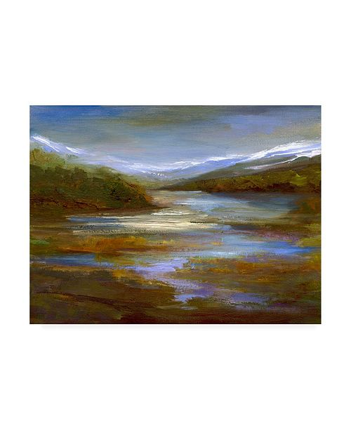 "Trademark Global Sheila Finch Mountain Stream Landscape Canvas Art - 27"" x 33.5"""
