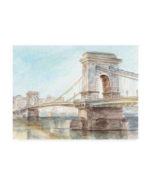 "Trademark Global Ethan Harper Iconic Watercolor Bridge I Canvas Art - 27"" x 33.5"""