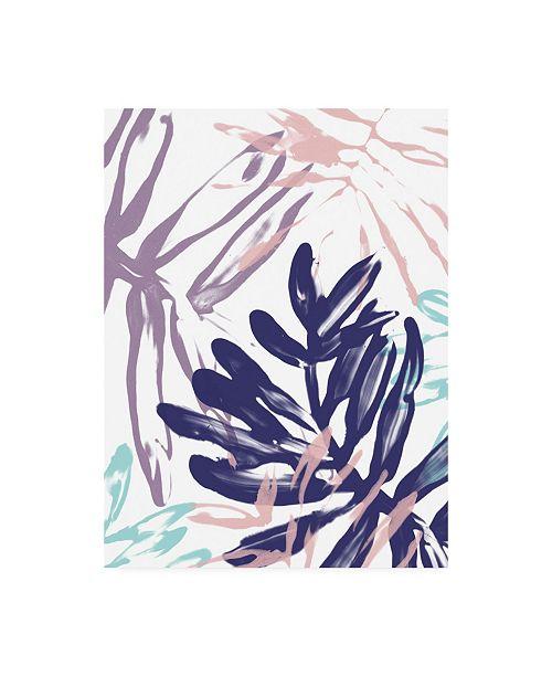 "Trademark Global June Erica Vess Miami Floral II Canvas Art - 15.5"" x 21"""
