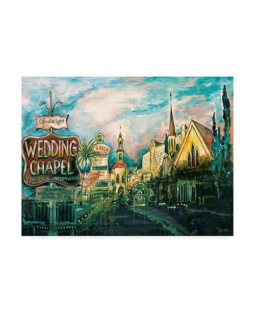 "Trademark Global Peter Potter Las Vegas Strip Canvas Art - 15.5"" x 21"""