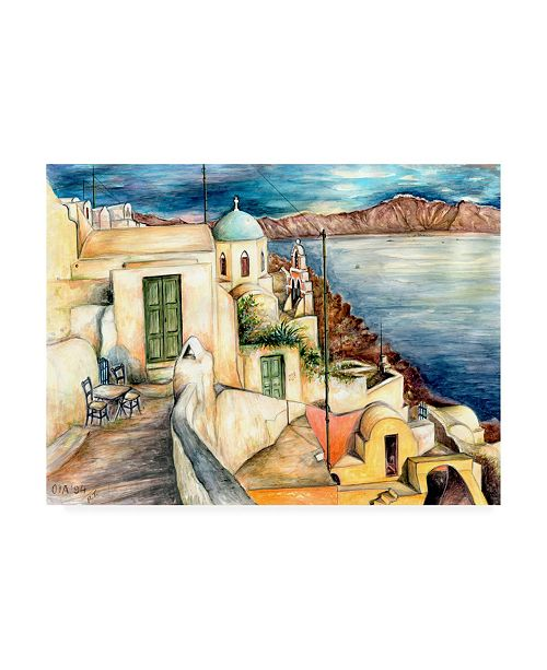 "Trademark Global Peter Potter Santorini Potter Canvas Art - 15.5"" x 21"""