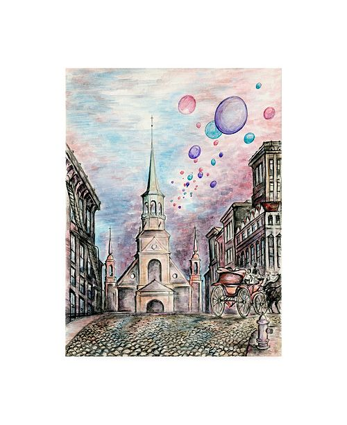 "Trademark Global Peter Potter Romantic Montreal Canvas Art - 15.5"" x 21"""