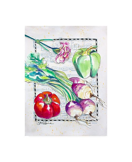 "Trademark Global Elizabeth St. Hilaire Kitchen Veggies I Canvas Art - 27"" x 33.5"""