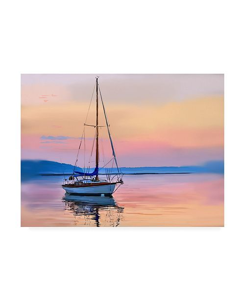 "Trademark Global Emily Kalina Sailing Portrait I Canvas Art - 27"" x 33.5"""