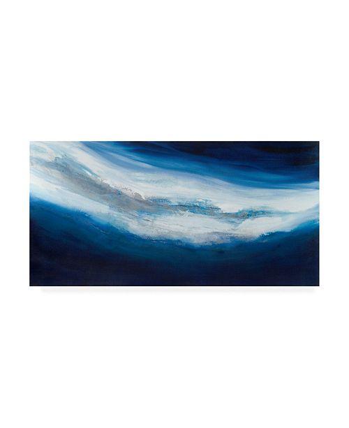 "Trademark Global Teodora Guererra Silver Current Canvas Art - 15.5"" x 21"""