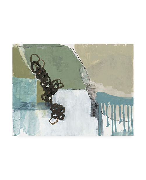 "Trademark Global Jennifer Goldberger Umber Links I Canvas Art - 15.5"" x 21"""