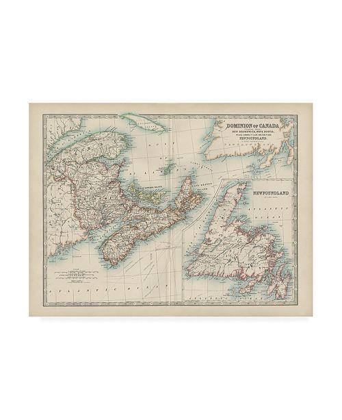 "Trademark Global Johnston Johnstons Map of Canada Canvas Art - 27"" x 33.5"""