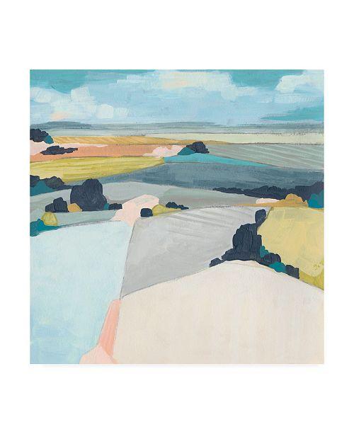 "Trademark Global June Erica Vess Chromatic Fields I Canvas Art - 15.5"" x 21"""