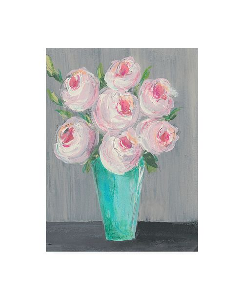 "Trademark Global Regina Moore Sorbet Floral II Canvas Art - 27"" x 33.5"""