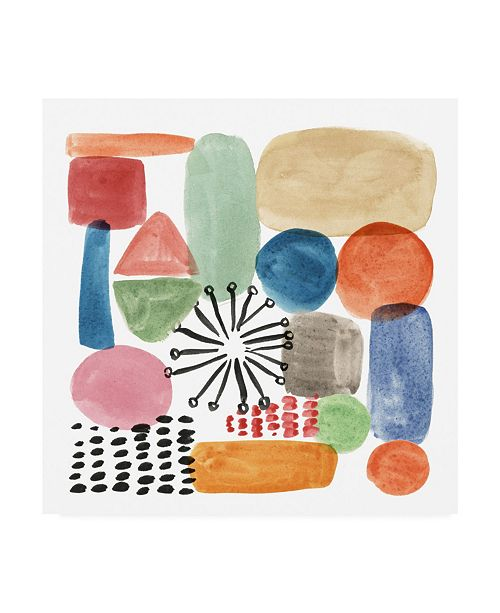 "Trademark Global Melissa Wang Color Code IV Canvas Art - 19.5"" x 26"""