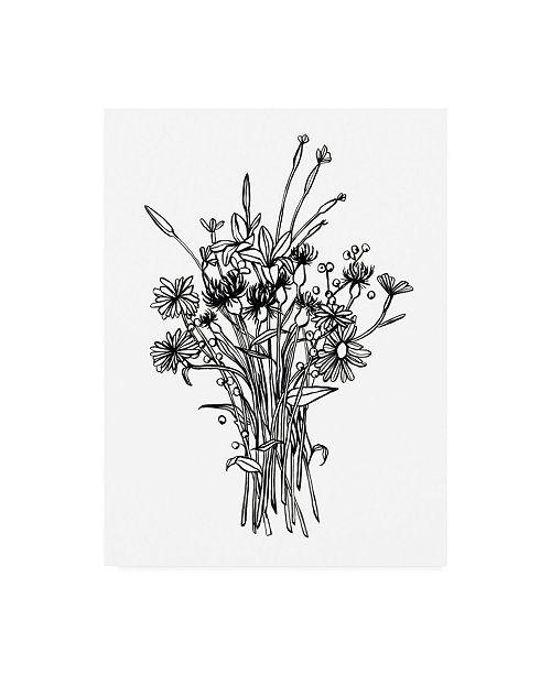 "Trademark Global Emma Scarvey Black and White Bouquet I Canvas Art - 27"" x 33.5"""