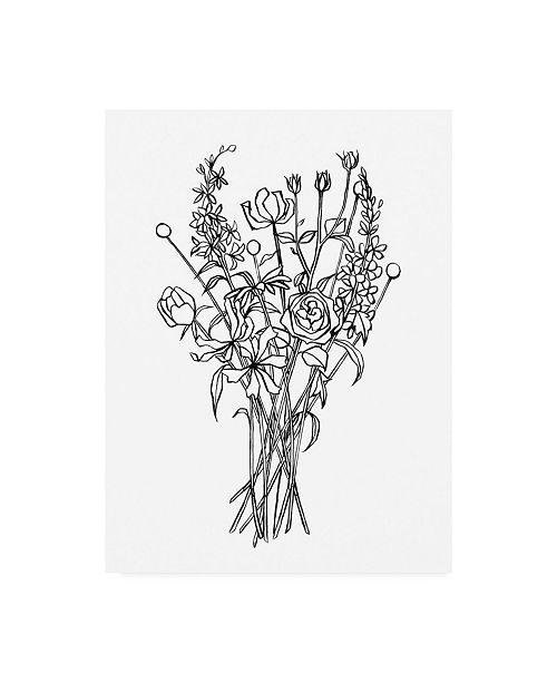 "Trademark Global Emma Scarvey Black and White Bouquet III Canvas Art - 27"" x 33.5"""