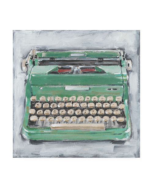 "Trademark Global Ethan Harper Vintage Typewriter II Canvas Art - 19.5"" x 26"""