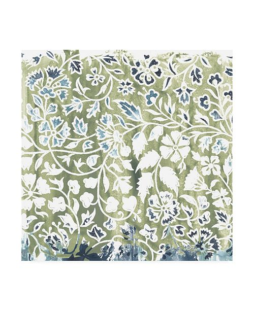 "Trademark Global June Erica Vess Flower Stone Tile I Canvas Art - 19.5"" x 26"""