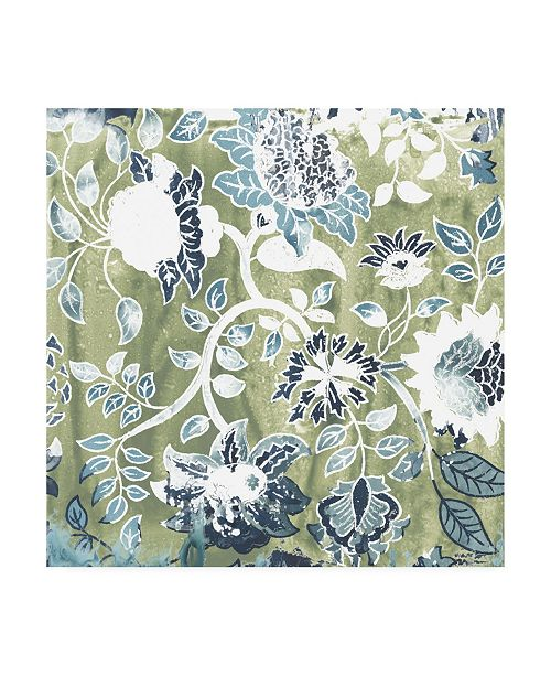 "Trademark Global June Erica Vess Flower Stone Tile IX Canvas Art - 15.5"" x 21"""