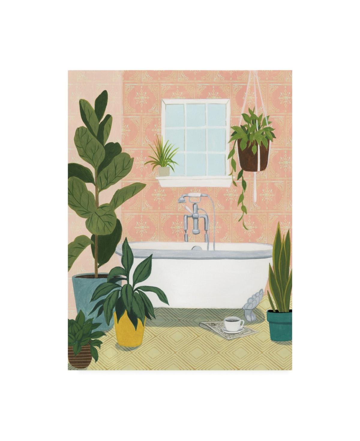 Grace Popp Bathtub Oasis Ii Canvas Art - 15.5