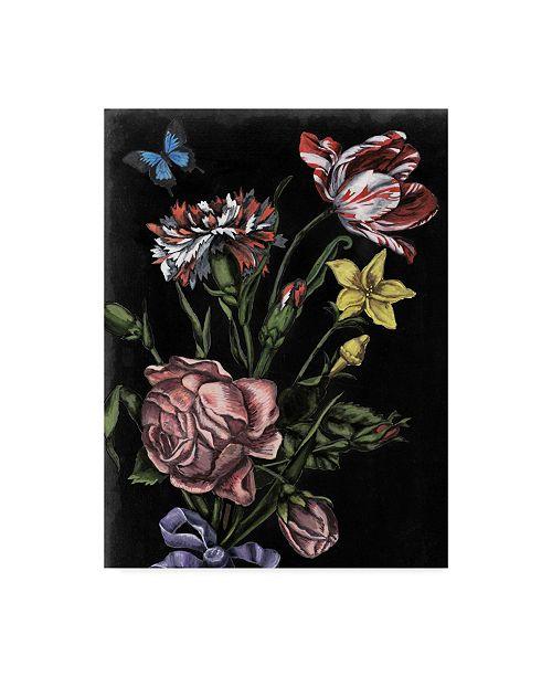"Trademark Global Naomi Mccavitt Dark Floral IV Canvas Art - 20"" x 25"""