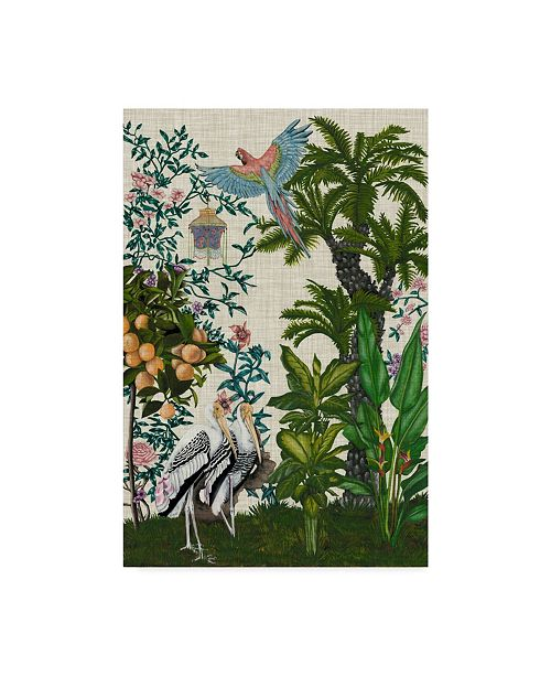 "Trademark Global Naomi Mccavitt Paradis Chinoiserie II Canvas Art - 20"" x 25"""