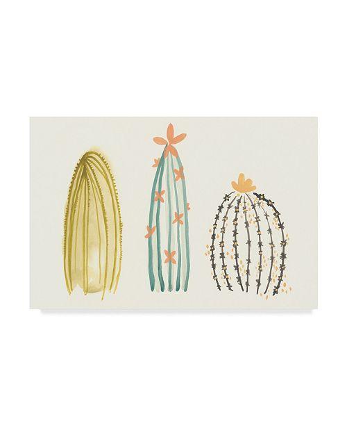 "Trademark Global June Erica Vess Funky Succulents II Canvas Art - 20"" x 25"""