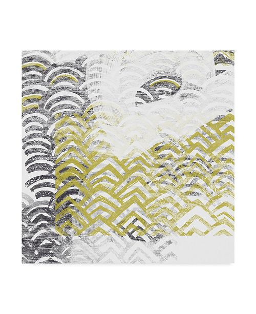 "Trademark Global June Erica Vess Block Print Abstract VII Canvas Art - 27"" x 33"""