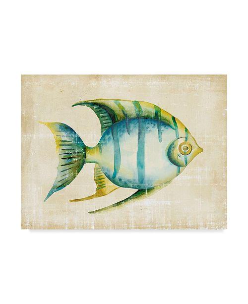 """Trademark Global Chariklia Zarris Aquarium Fish I Canvas Art - 20"""" x 25"""""""