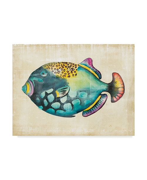 "Trademark Global Chariklia Zarris Aquarium Fish IV Canvas Art - 20"" x 25"""
