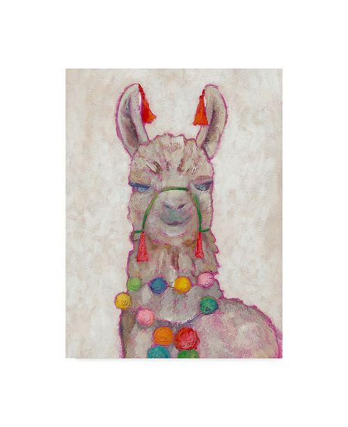 "Trademark Global Chariklia Zarris Festival Llama I Canvas Art - 37"" x 49"""