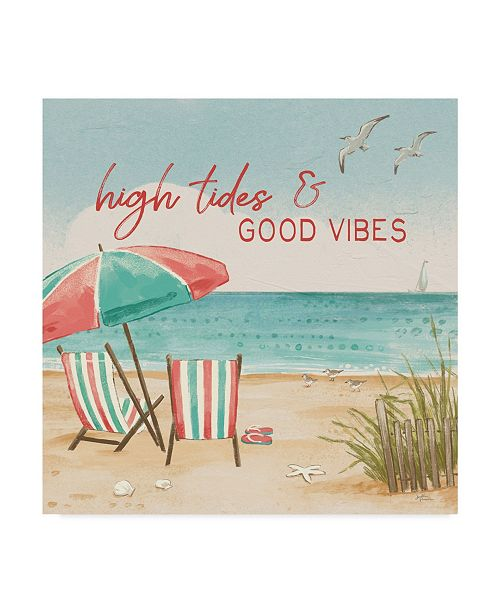 "Trademark Global Janelle Penner Beach Time II Canvas Art - 15"" x 20"""