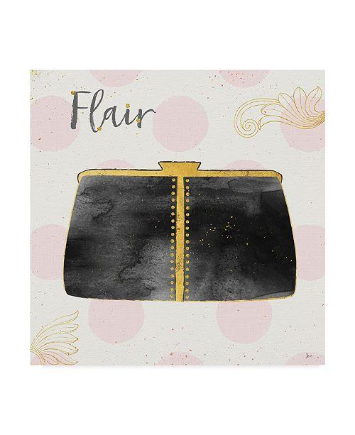 "Trademark Global Jess Aiken Fashion Blooms Ii Black Canvas Art - 15"" x 20"""