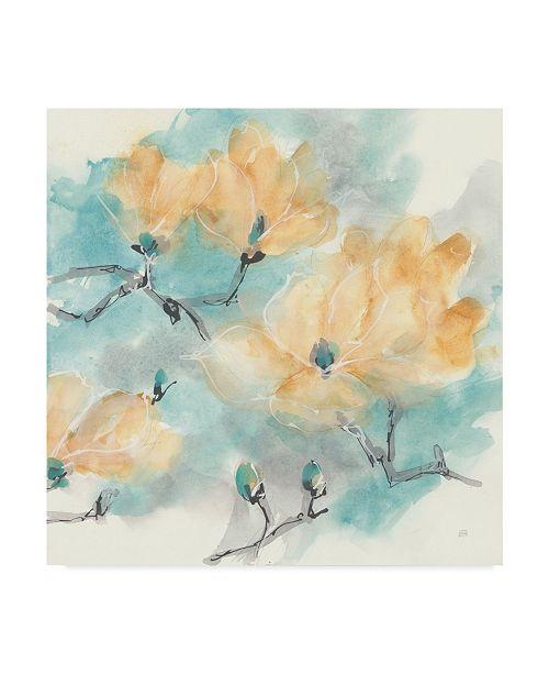 """Trademark Global Chris Paschke Teal Buds I Canvas Art - 15"""" x 20"""""""