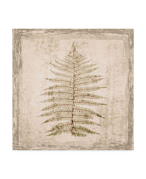 "Trademark Global Irena Orlov Stone Leaf I Canvas Art - 27"" x 33"""