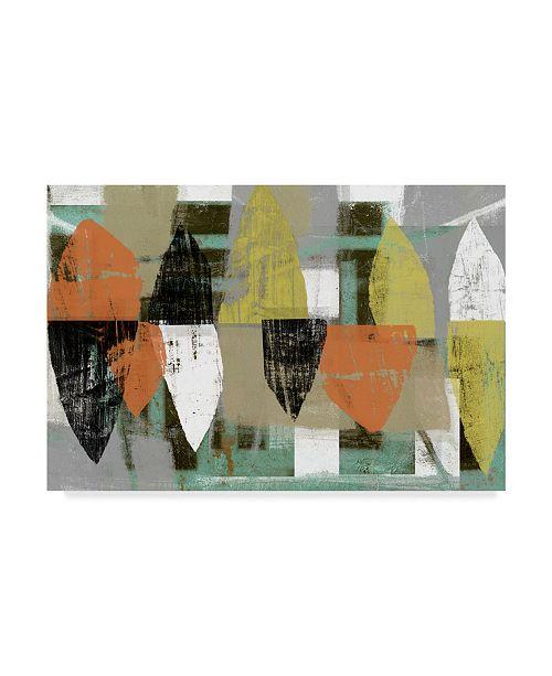 "Trademark Global Jennifer Goldberger Shape Stack I Canvas Art - 37"" x 49"""