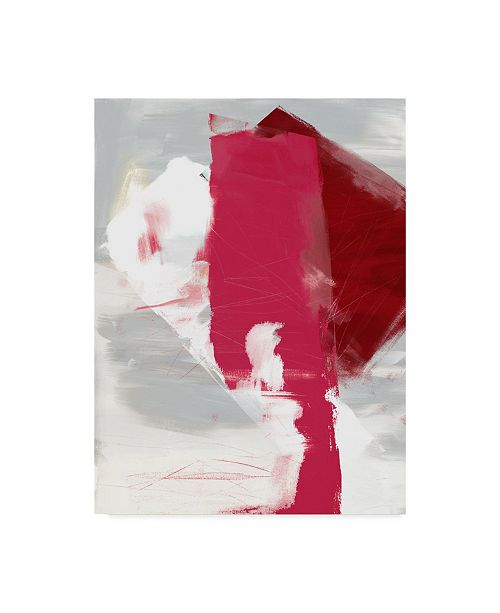 "Trademark Global Sisa Jasper Magenta Abstract I Canvas Art - 37"" x 49"""