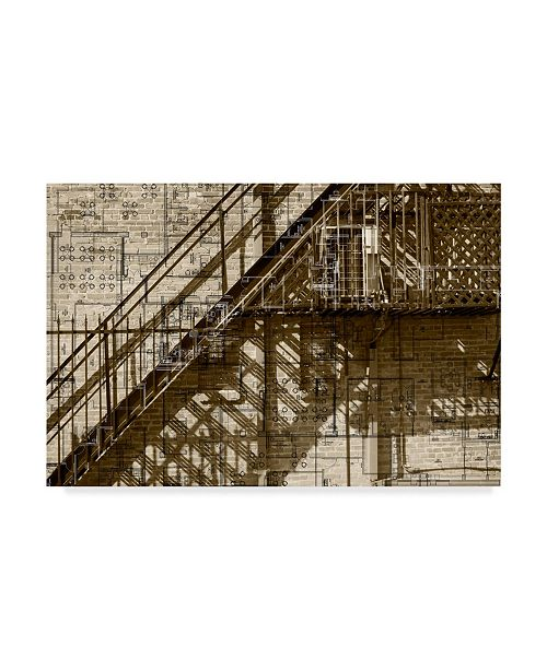 "Trademark Global Sisa Jasper Architecture Drawing I Canvas Art - 37"" x 49"""