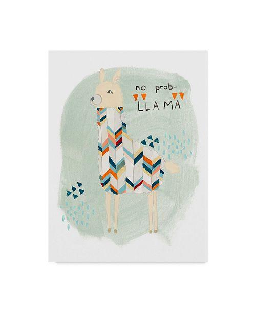 "Trademark Global June Erica Vess Llama Squad I Canvas Art - 37"" x 49"""