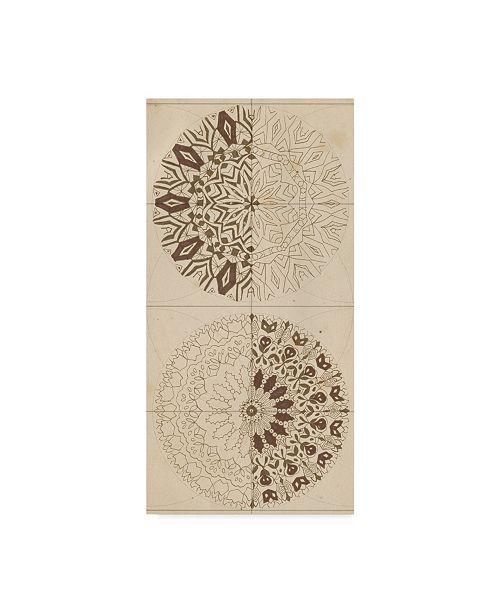"Trademark Global Naomi Mccavitt Sacred Geometry Sketch I Canvas Art - 20"" x 25"""
