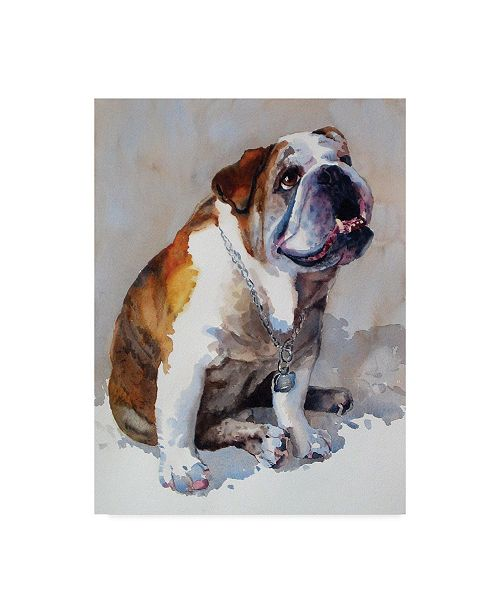 "Trademark Global Edie Fagan Major Wembly E. Bull Dog Canvas Art - 20"" x 25"""