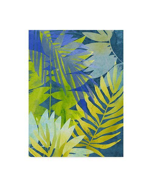 "Trademark Global June Erica Vess Tropical Indigo I Canvas Art - 37"" x 49"""