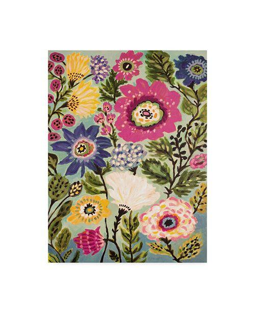 """Trademark Global Karen Fields Garden of Whimsy IV Canvas Art - 37"""" x 49"""""""