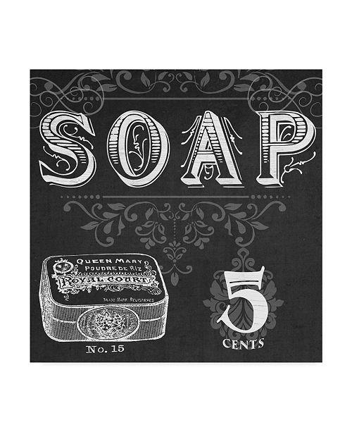 "Trademark Global June Erica Vess Chalkboard Bath Signs I Canvas Art - 15"" x 20"""