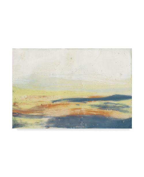 "Trademark Global Jennifer Goldberger Bronze Horizon I Canvas Art - 20"" x 25"""