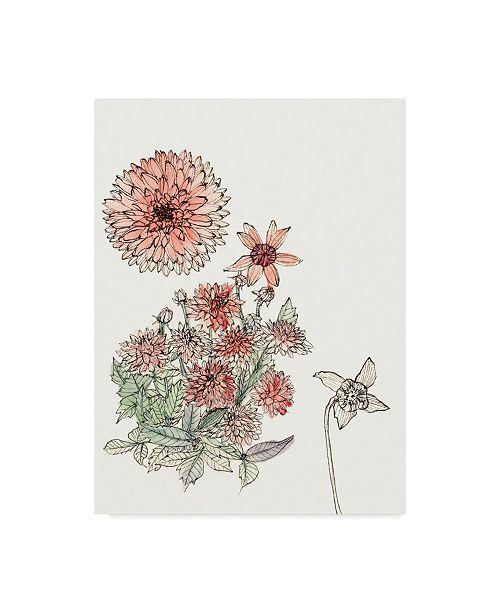 "Trademark Global Melissa Wang Dahlia Study Canvas Art - 37"" x 49"""