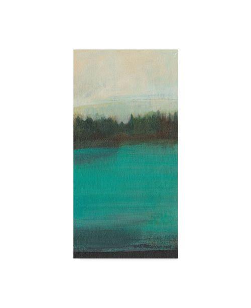 "Trademark Global Jodi Fuchs Teal Lake View I Canvas Art - 37"" x 49"""